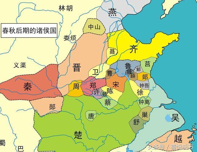 晋国四周,北有北狄,南有楚国,西有秦国,东有齐国.