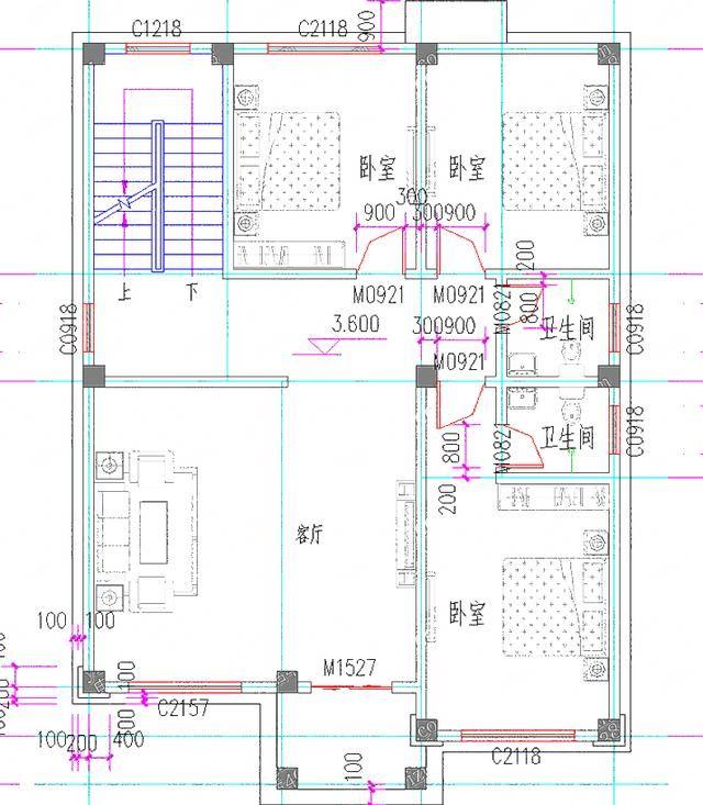 2018受欢迎1013二层半三层35万3厅6卧独栋别墅设计图