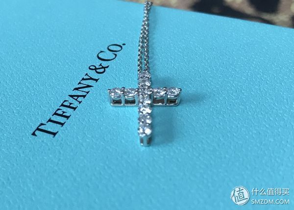 tiffany co 蒂芙尼 铂金钻石 小号十字架项链
