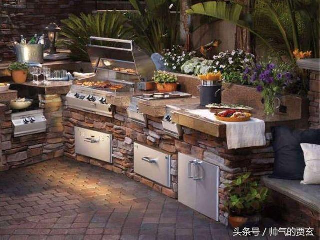时尚欧美家居,45个欧式户外厨房和庭院设计创意,奢华