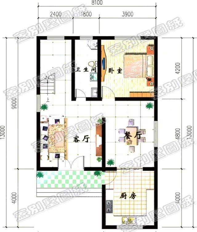 20万二层半三层厨房独立设计农村自建房图纸(建筑结构