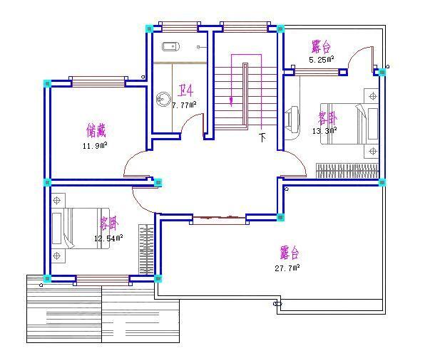 25万110三层2厅8室5卫三层现代实用农村自建房设计图全套水电全