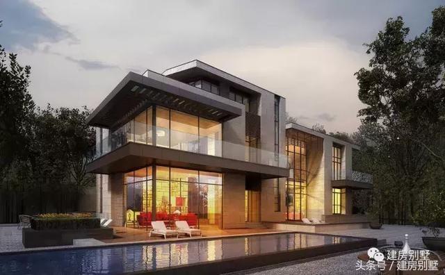 八款现代式农村别墅效果图,简约时尚,美出新境界