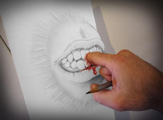 让人不可思议的立体画,这个男人用一支铅笔欺骗了所有图片