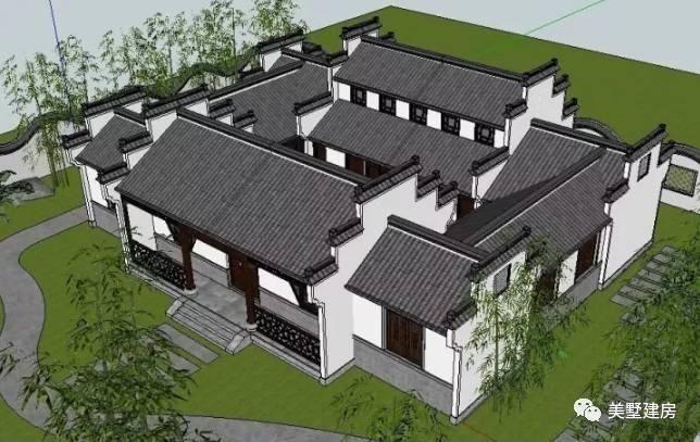 20套新中式四合院,超高颜值,直接秒杀欧式小别墅!