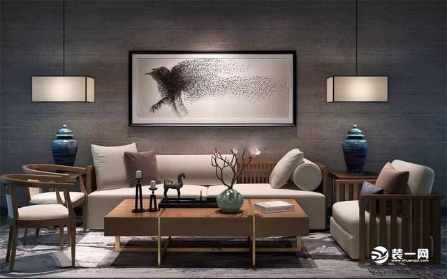 辰歌装饰设计精选:十张惊艳新中式沙发背景墙效果图