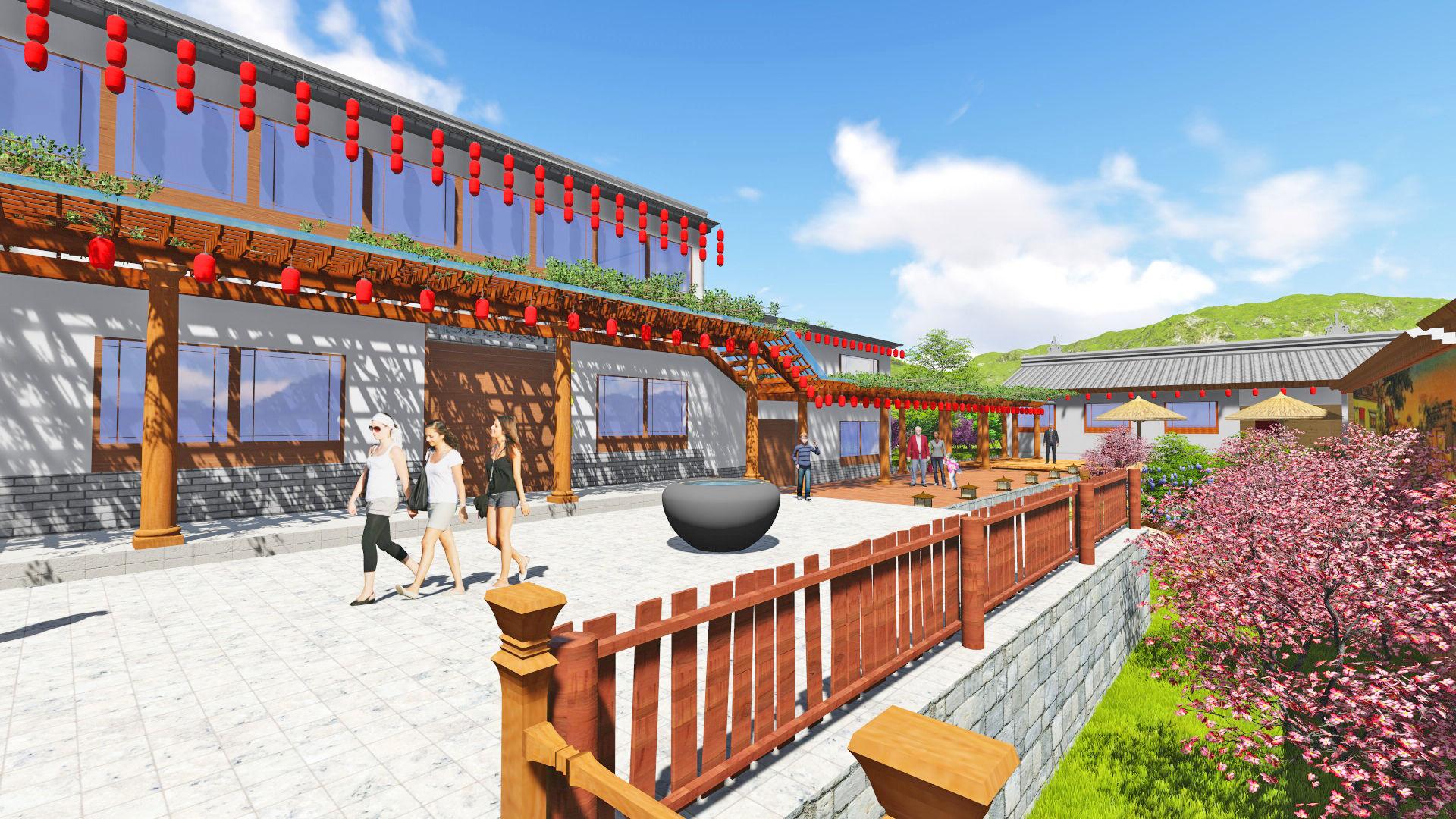 小源村青松田园高端乡村民宿外景观设计