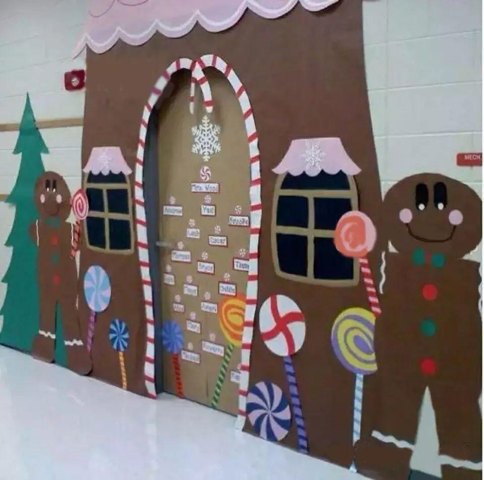 幼儿园区角环创,多姿多彩的教室门装饰