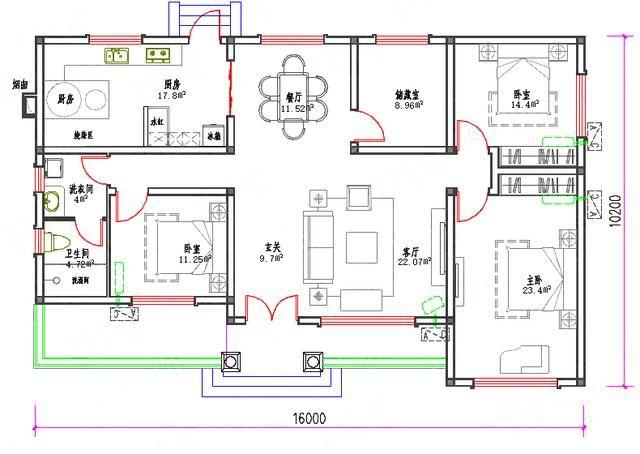 房子设计图大全96平