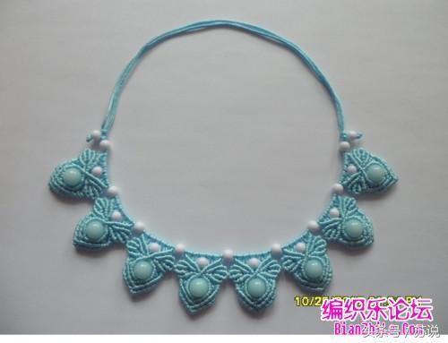 中国结编织,手工diy绳编串珠花边项链,详细编制教程图解,收藏