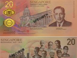 """新加坡新钞现华侨 20元新钞首现华侨陈嘉庚为""""橡胶大王"""""""