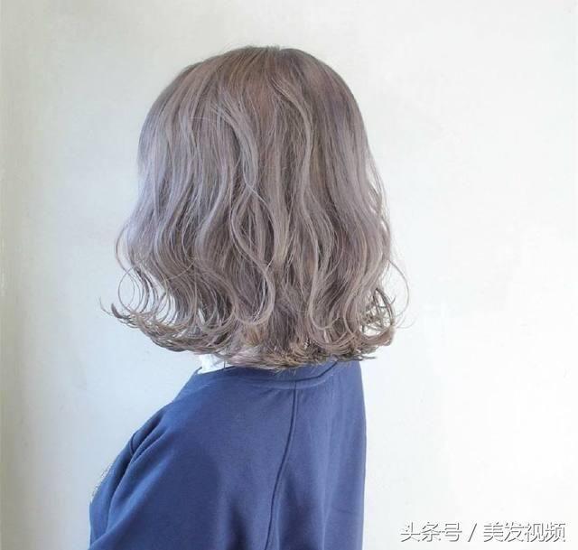 2018年女生最新流行什么烫发发型?纹理烫短发发型个性图片