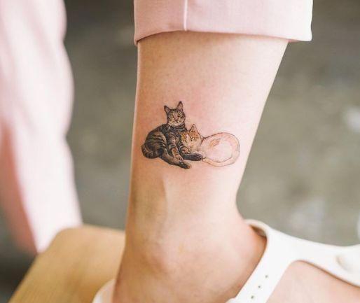 超可爱的宠物文身:把心爱的ta文在身上,藏进心里.
