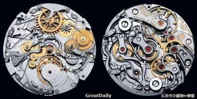 百达翡丽手工制作的手表,内部细致度可以算是全世界最精巧