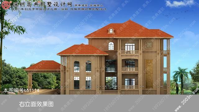 纯石材外墙顶级欧式会所式别墅建出来效果就是不一样