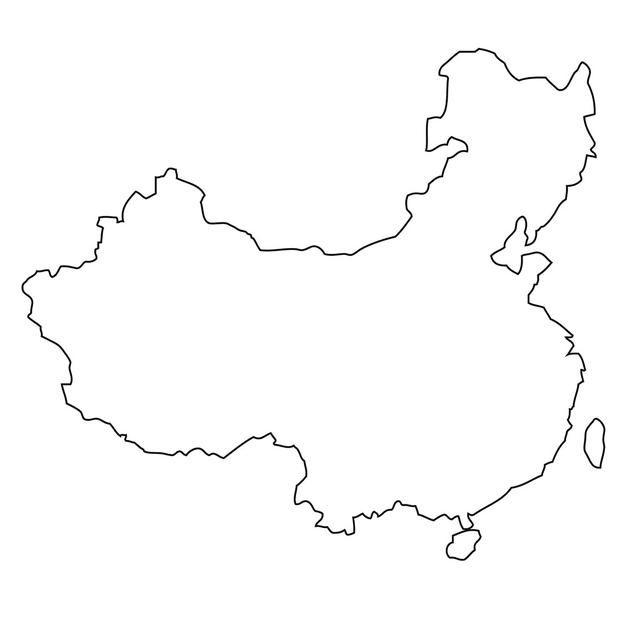 陕西地图简笔画可爱