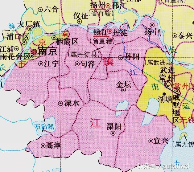 江苏面积最小的地级市镇江,4张地图告诉你历史上的有怎么的变化
