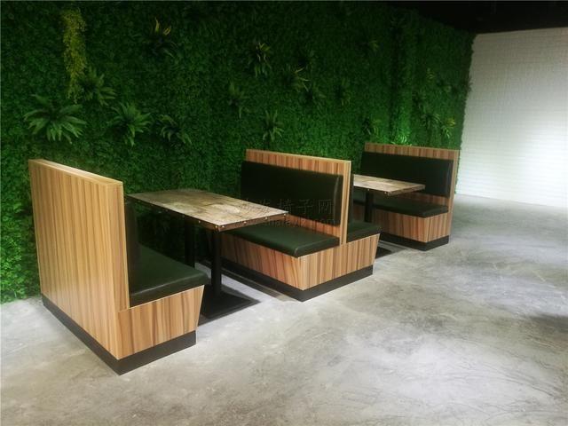 上翻式储物三胺板卡座沙发桌子组合
