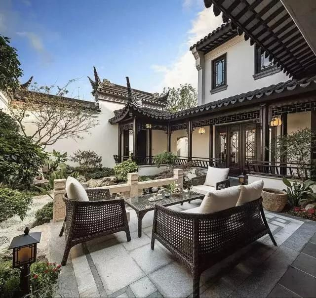 别墅花园设计实景图 庭院_武汉庭院设计_室内庭院水景设计
