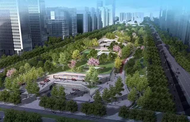 """首推""""绿带,绿岛,绿舟,绿篱""""复合型城市绿地设计理念,解决绿化效果与"""