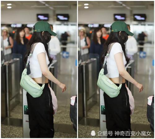 """有刘海儿的 杨幂终于露腰了!""""少女腰""""简直要让人羡慕炸了插图(2)"""