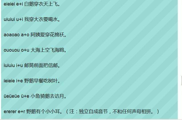 部编版一年级语文拼音练习+汉语拼音顺口溜,语