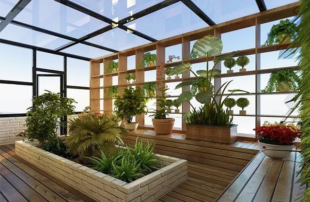买的顶楼,楼顶送了80平方,搭个阳光房不错图片