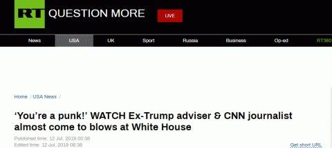 <b>特朗普前助理和记者在白宫前大吵:你不是记者,你是废物!</b>