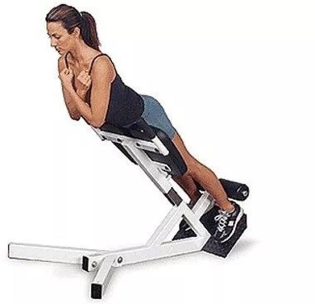如何练好健身动作-下背部训练之罗马椅山羊挺身