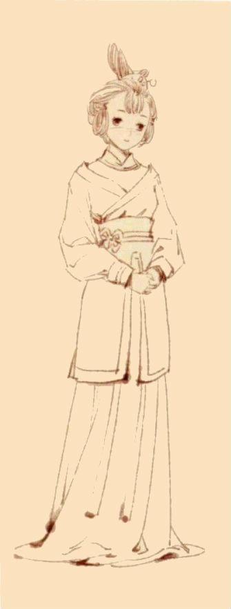 古风插画绘制基础教程,古代男女的完美身材造型比例