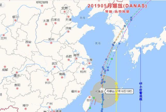 5号台风丹娜丝绕过台湾奔向韩国,网友热评:真