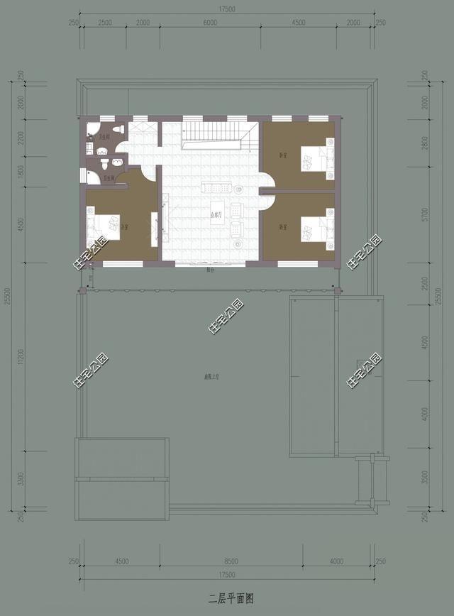 1會客廳,1廚房,1餐廳,1儲藏間,1保姆房,1臥室,1鍋爐房,1衛生間