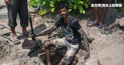 印度下水道工人的日常生活,死亡率极高,一天能赚30元