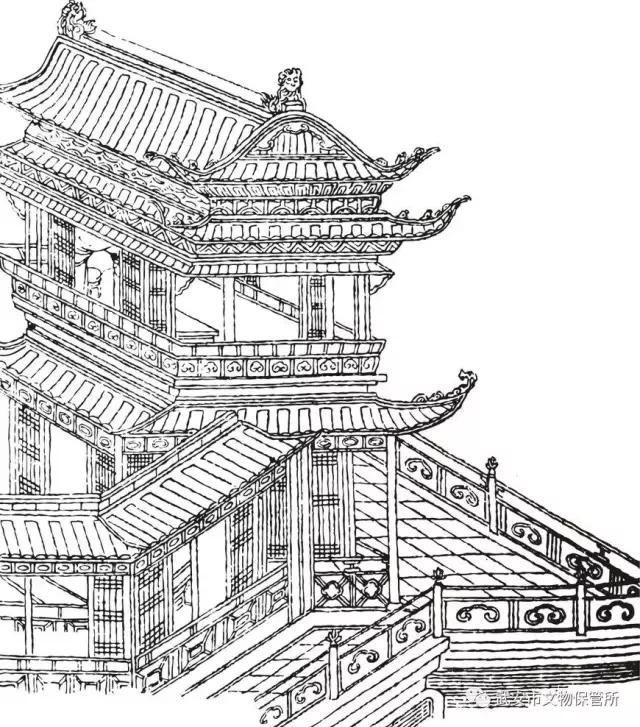 """为保平安,在居民建筑上处处体现了防御这一特点:""""碉堡式""""四合院,高房"""