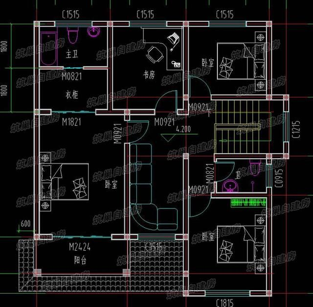 4套经典三层农村自建房设计图,任意一款都是精品,任君