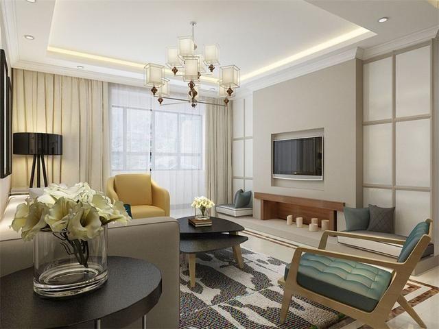 97平方米三室一廳裝修效果圖現代簡約風格 臥室是人們最好的休息空間
