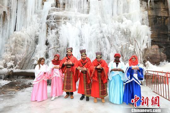 外国留学生在太行山区体验中国年