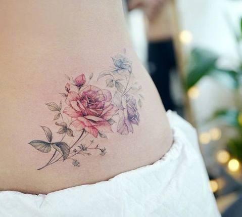 十二星座专属小仙女纹身,天秤座十字桃花,狮子座带刺的玫瑰!