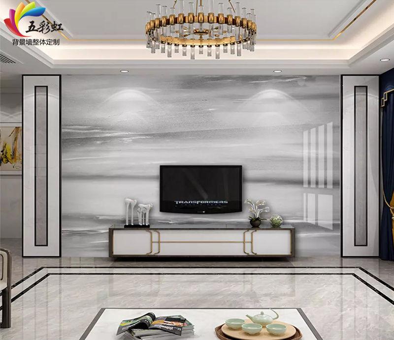 微晶石搭配护墙电视背景墙造型,2018年最出色的家居设计!