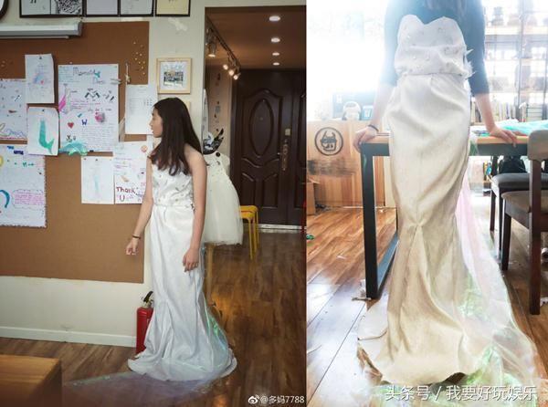多多设计礼服,翻译英文读物,女儿这么优秀,难怪黄磊要