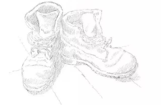 """小编在后台看到微信名是yuan Seven""""的同学咨询鞋子的画法 所以今天呢我们就一起来学习一下怎么画鞋子吧 描绘运动鞋等常见和常用物品 往往充满乐趣 你可以展现出物品的磨损程度 从而为绘画增添个性色彩  球鞋素描步骤解析 Step 1:大致描绘出两只鞋的轮廓,并标记鞋带的位置。  Step 2: 认真画出鞋带的形状和细节。画出鞋底的图案和地板。  Step 3: 绘制线条,明确呈现出运动鞋的外形。绘制鞋带和鞋上的色调。  Step 4 : 淡淡地绘制鞋上的色调,保留高光部分,然后画出鞋在地板上的投影"""