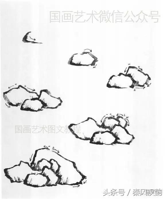 手绘石头线条图