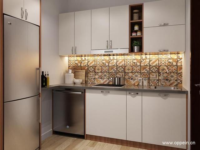 小户型厨房中冰箱怎么摆放 厨房冰箱摆放效果图