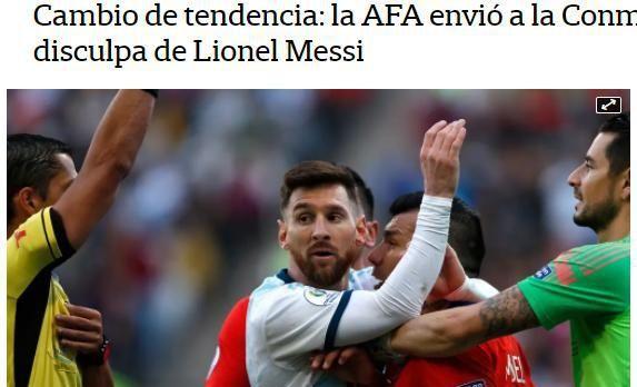 服软!梅西终于道歉,阿根廷足协害怕超级罚单:希望停止调查