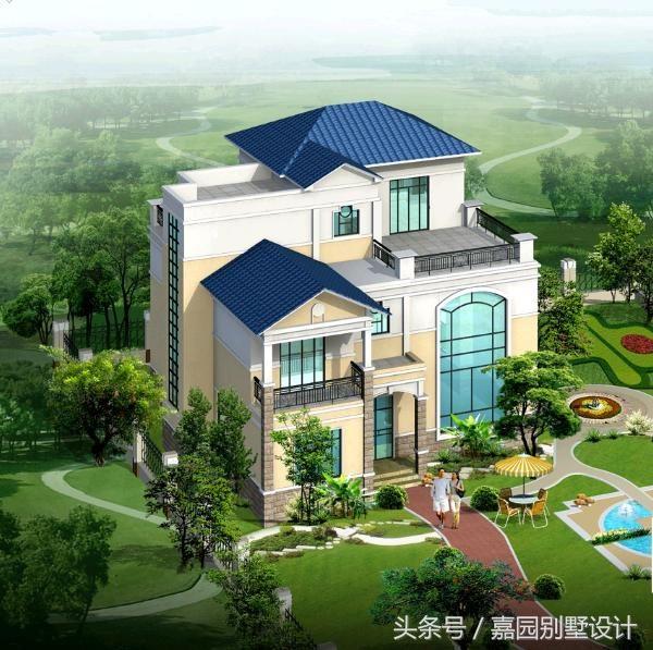 三层别墅设计图纸,开间13.5米进深14.3米房屋设计功能