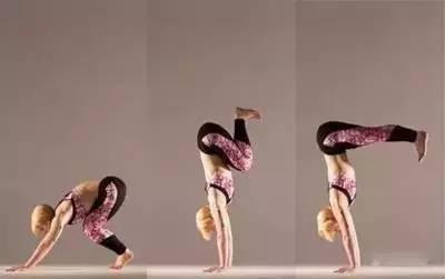 练瑜伽慢起手倒立