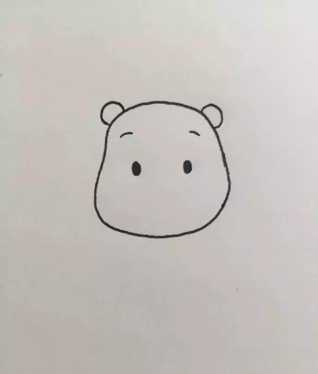 袋鼠的简笔画步骤