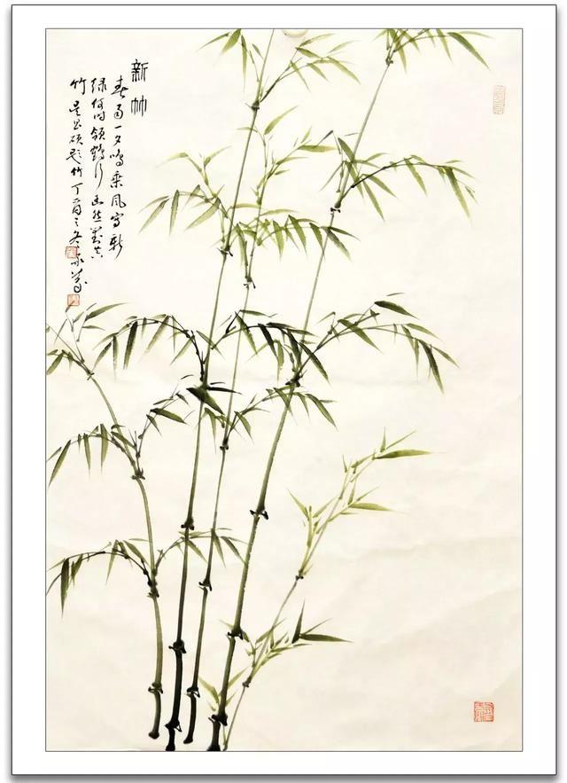 快速掌握水墨竹子画法图片