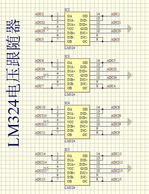 正文  下面介绍一种利用stm32单片机制作的16路多通道adc采集电路图和