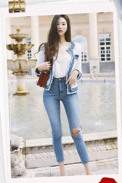 时尚的紧身牛仔裤,不仅很有设